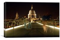 Millennium Bridge , Canvas Print