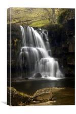 Upper East Gill Falls, Canvas Print