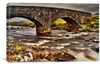 Hebridean River, Isle of Mull, Canvas Print