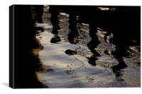 pontoon reflections, Canvas Print