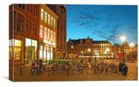 Bicycles in Brugge, Canvas Print