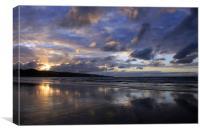 Ahipara Sunset , Canvas Print