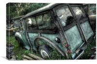 Old Morris Minor, Canvas Print