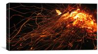 Fire embers, Canvas Print