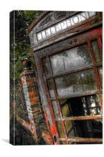 phonebox, Canvas Print