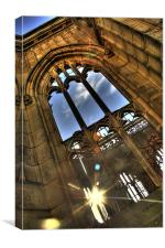 Sunlight at the bombed out church, Canvas Print