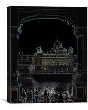 golden temple, Canvas Print