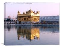 the golden temple, Canvas Print