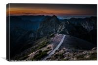 Pico Do Arieiro, Island of Madeira, Canvas Print