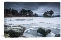 Frozen Derwenwater, Canvas Print