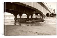 Under the pier!