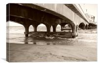 Under the pier! , Canvas Print