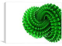 3d green torus , Canvas Print