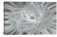 Rainbow Swirl , Canvas Print