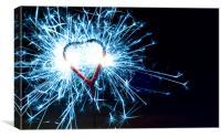 Heart Sparkler, Canvas Print
