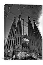 Sagrada Familia, Canvas Print