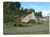 The Grand Gumboot of Taihape, Canvas Print