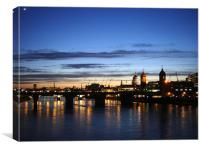 London Sunset Scene , Canvas Print