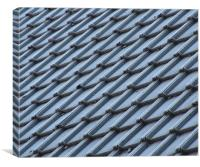 FROSTY ROOF, Canvas Print