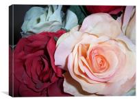 Fabric Roses, Canvas Print