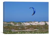 Lone Kite Surfer, Canvas Print