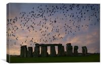 Stonehenge at sunset, Canvas Print