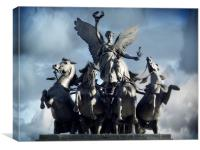 Wellington Arch , Canvas Print
