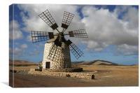 Tefia windmill : Fuerteventura , Canvas Print