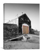 Ballygally boathouse, Canvas Print