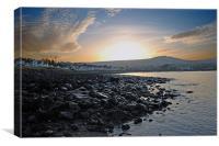 Ballygally sunset, Canvas Print