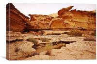 Wadi Rocks, Canvas Print