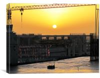 Sunrise over King Saud University, Canvas Print