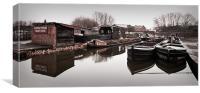 Castle Fields Boat Dock, Canvas Print