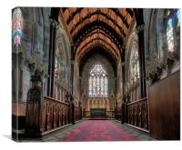 The Marble Church Altar, Canvas Print