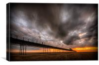 Southport Pier at Sunset - HDR, Canvas Print