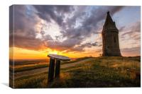Sunset at Hartshead Pike, Mossley, England, Canvas Print