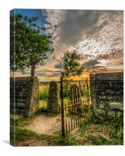 The Rusty Gate, Canvas Print