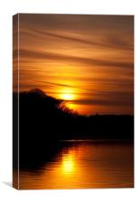 Golden Sunset over Dovestones, Canvas Print