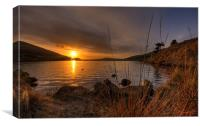 The Setting Sun over Dovestones, Canvas Print