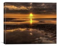 Sunset over the Irish Sea., Canvas Print