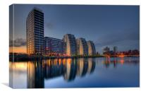 Reflections at Salford Quays, Canvas Print