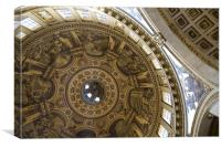 Ceiling of St Pauls Cathedral , Canvas Print