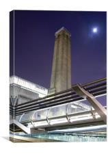 Tate Modern at Night , Canvas Print