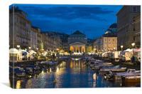 Trieste (Italy) - Ponterosso, Canvas Print