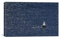 Solo sailor, Canvas Print