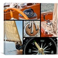 Sailboat and yacht set, Canvas Print