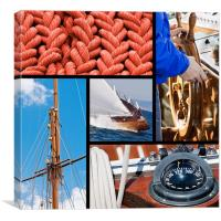 Boat and yacht collection, Canvas Print