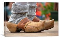 Wooden clogs, Canvas Print