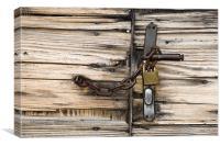 Locked gate, Canvas Print
