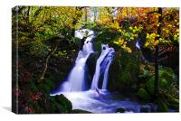 Stock Gyll Force water fall, Canvas Print